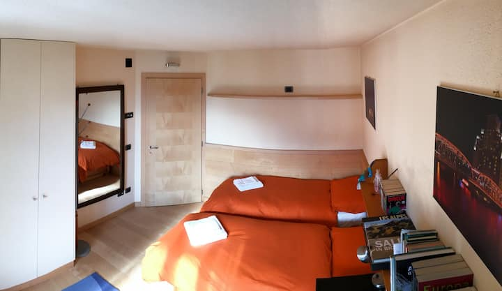 Cosy room at the bottom of the Stelvio Pass