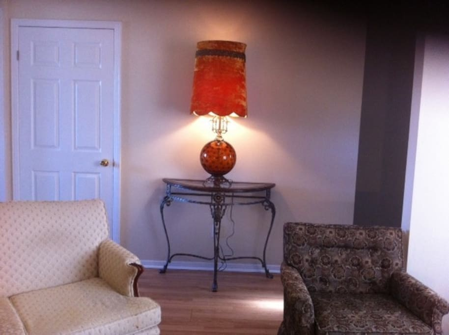 Sitting Room with Antique Lamp