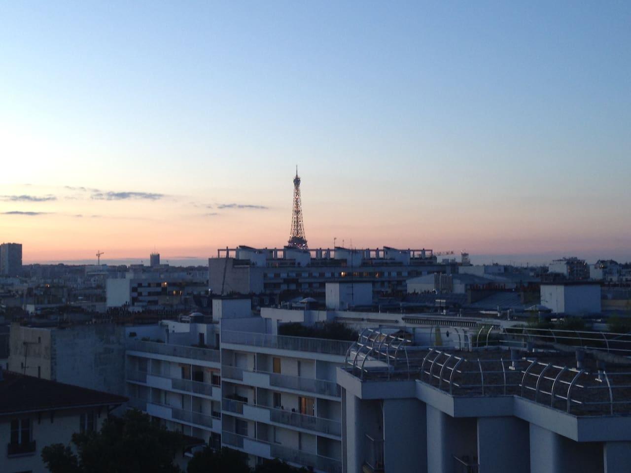 Ambiance le soir sur le balcon