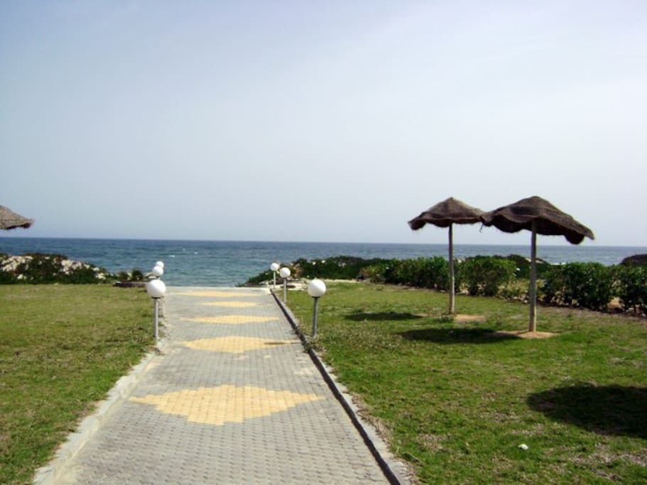 Beach of the residence