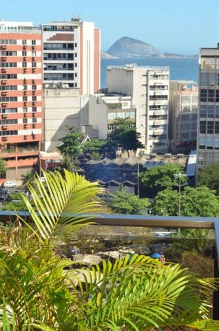 View over General Osório Square, and the ocean two blocks away