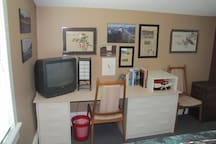 Your room with desk, dressers, closet, cable TV, WIFI internet