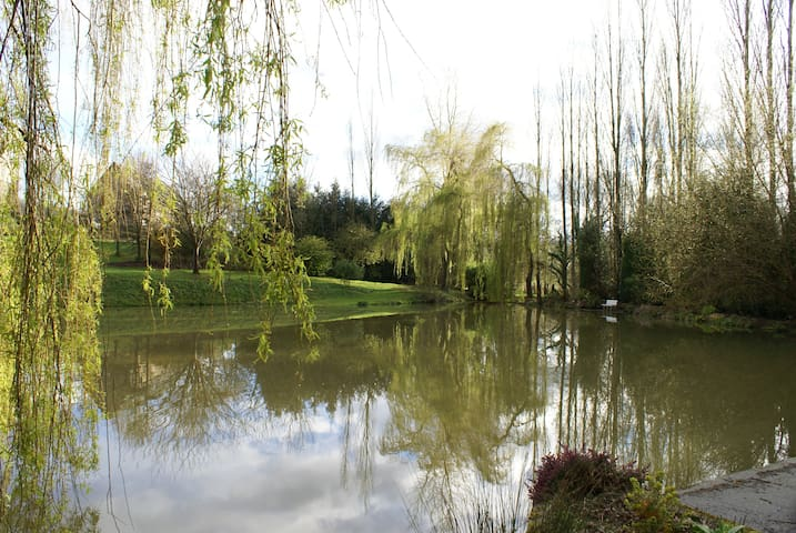 Cottage with pond near Caen - Préaux-Bocage - House
