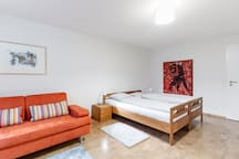 Spacious studio w/priv. bath incl. Mobility Ticket