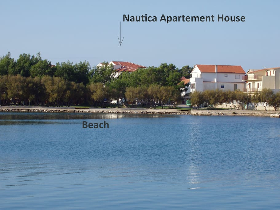 Nautica Apartments from the beach