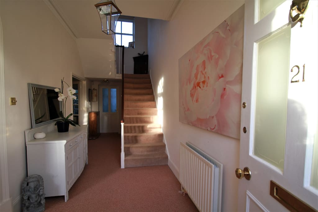 Welcome hall - lovely high ceilings with original features