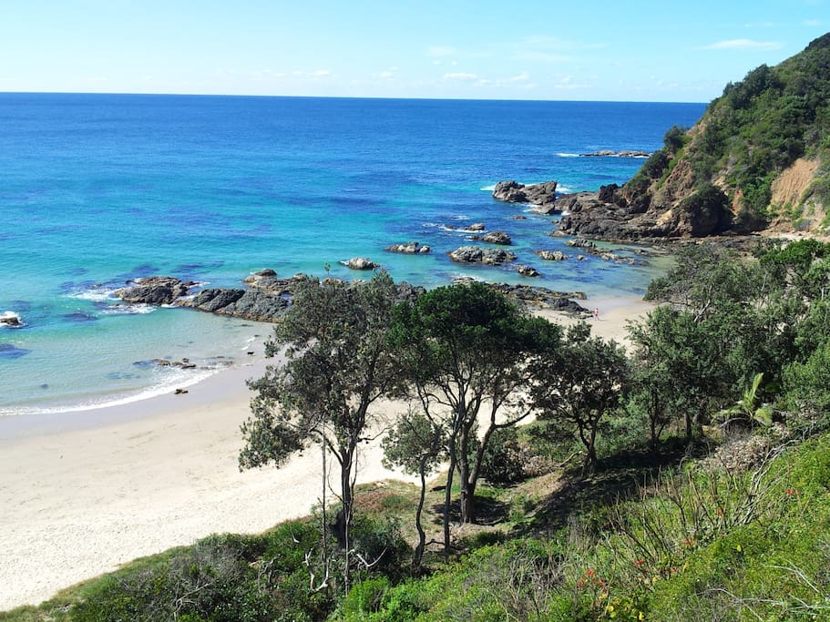 Beautiful Nobbys Beach - across the road from the cottage.