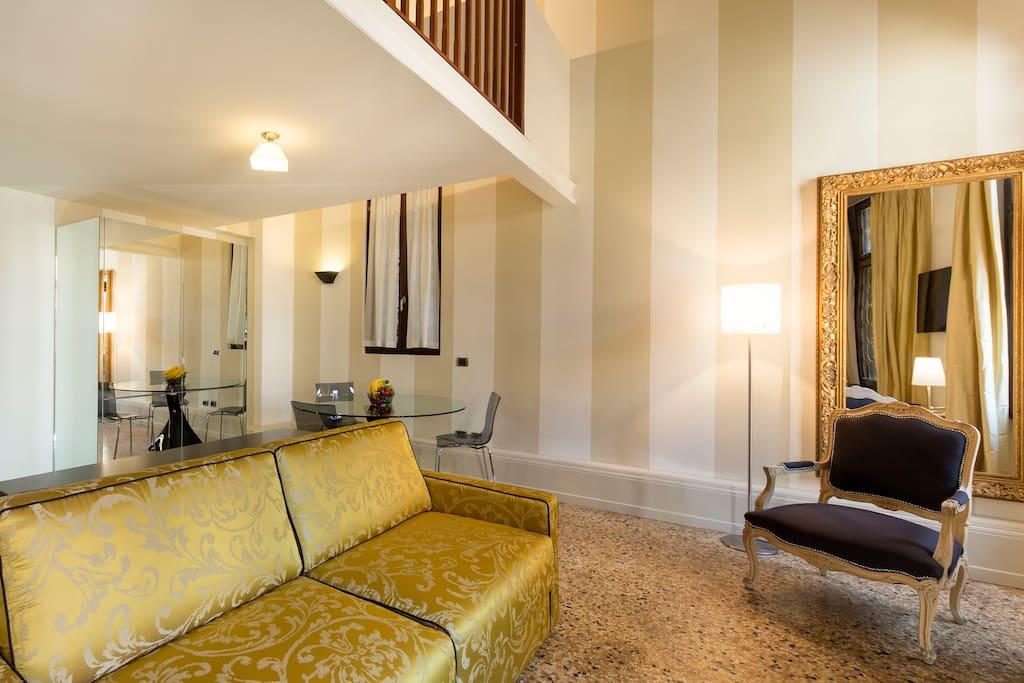 4 people apartment - Vignole  - Living Room