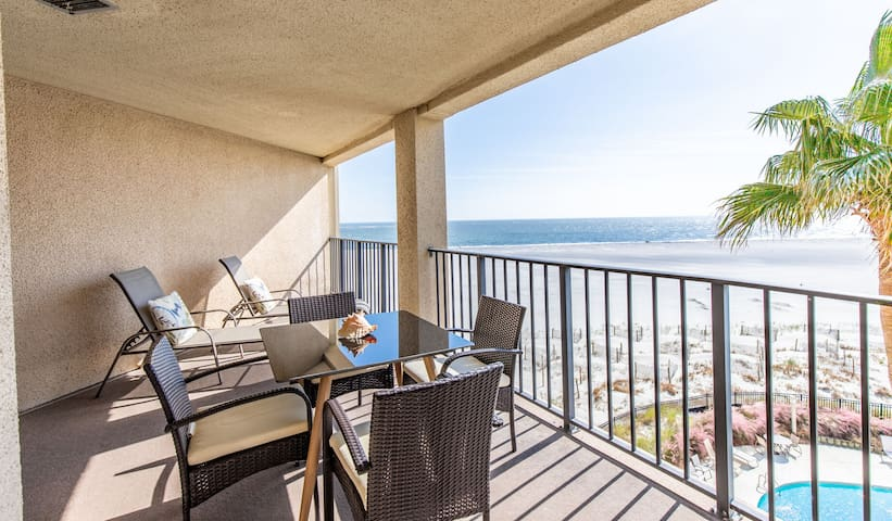 Ocean Front Condo Complex with Community Pool! Great View Looking at Beach!