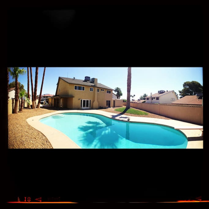 33,000 gallon pool in back yard on 10,000 square foot lot