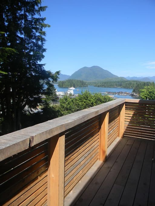 View of harbour & Clayoquot Sound from the deck.