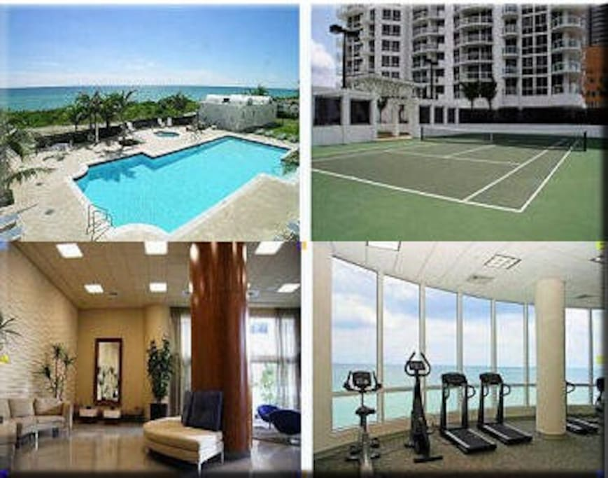 Amenities - Gym overlooking the ocean, Pool, Hot tub, Beach Service, BBQ Area