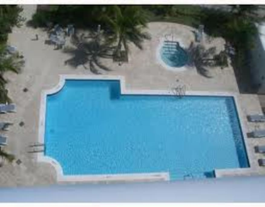 Overhead view of Heated Pool
