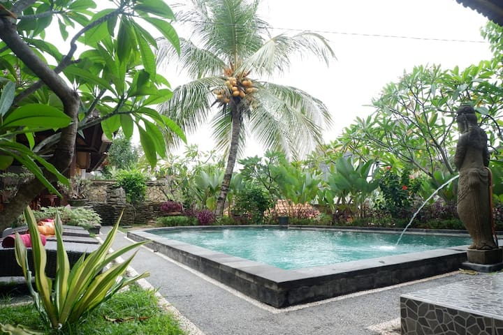 New Deluxe room by pool side @Budi's House ,Ubud