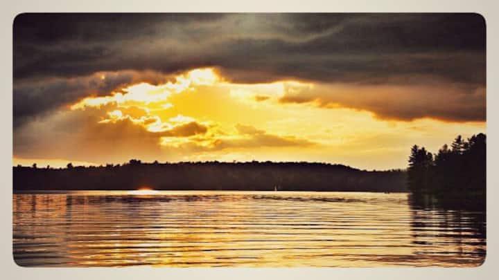 Enjoy the sunset on Koshlong Lake