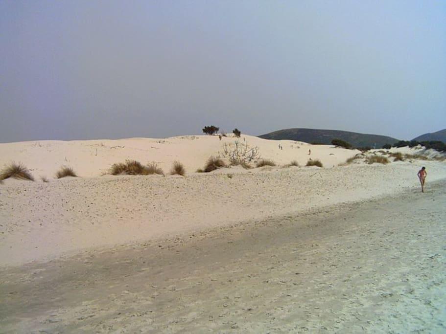 Porto Pino - Le dune di sabbia