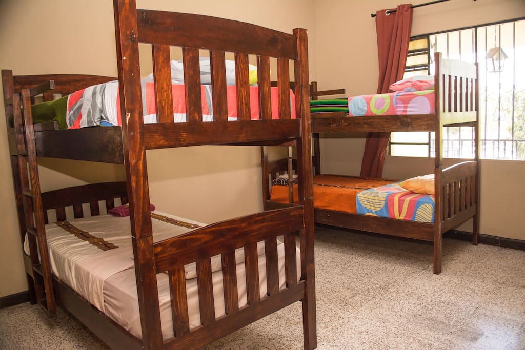 Bunkbeds for private or shared space option with great view of Guatemala City!