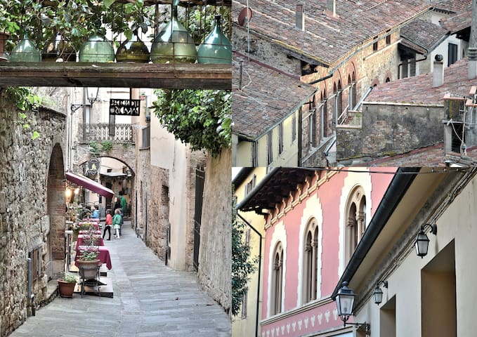 A nice alley with two nice restaurants and a detail of the historical cinema of Massa! The village still preserve its history and it's like a gem as it's still not so touristic!