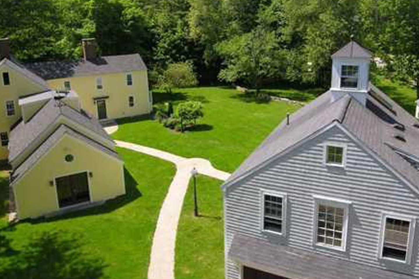 A view of lovely Arundel Farm from above.  You are only 1.5 miles from downtown Kennebunkport from our property.