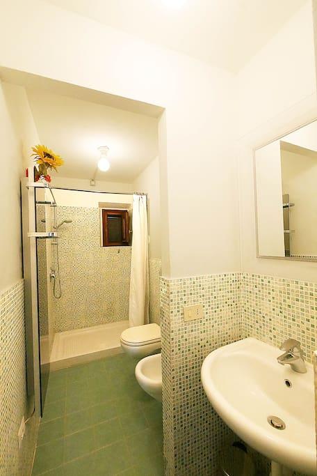 Tutti i bagni sono molto spaziosi e comodi. Gli arredi sono tutti uguali quello che cambia è il colore.