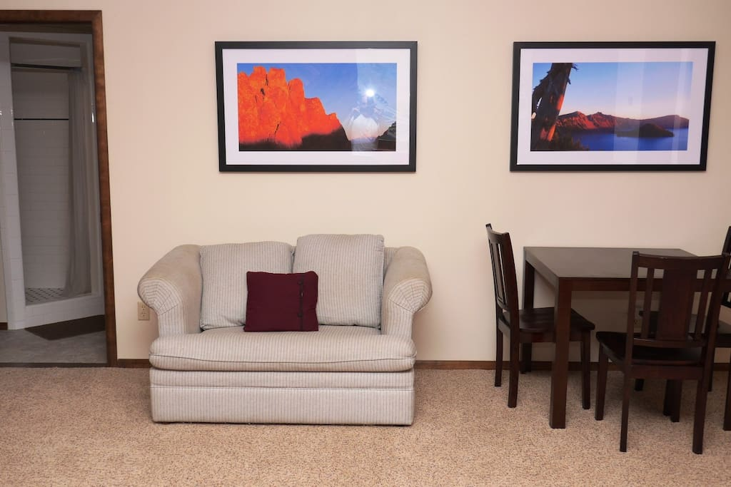 Sweet Suite table and love seat.