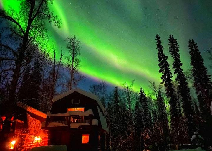 LOG CABIN ON THE RIVER! Sleeps 4*Alaskan ADVENTURE