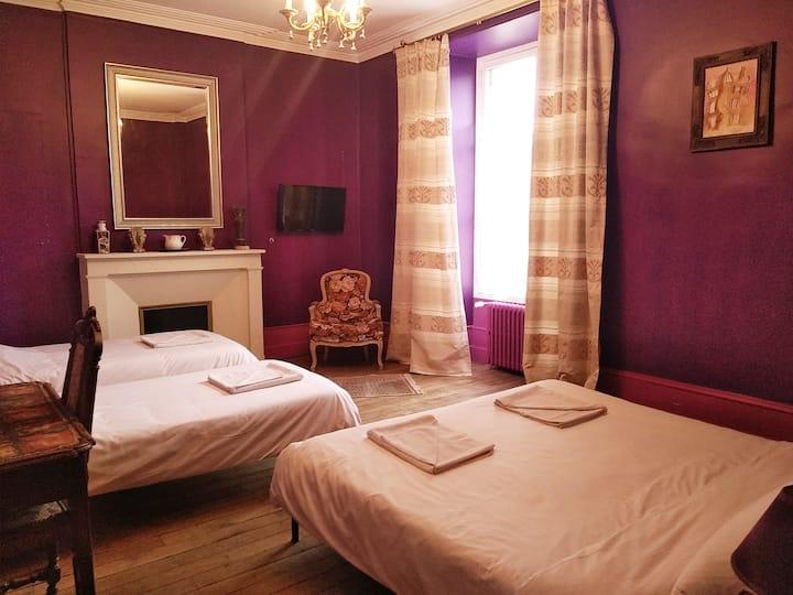 Chambre privée Sdb Châteaux de la Loire (violet)