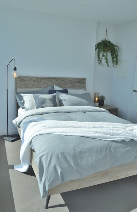 Loft style Bedroom with Comfy bed
