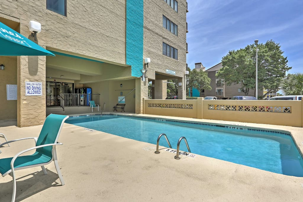 The condo complex grants you access to the lower-level pool area for those hot days when you want to take a refreshing afternoon dip.