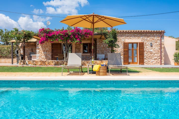 """Modern Rural Home """"Na Maians de Can Rall"""" with Pool, Garden, Terrace, Air Conditioning & Wi-Fi; Parking Available"""