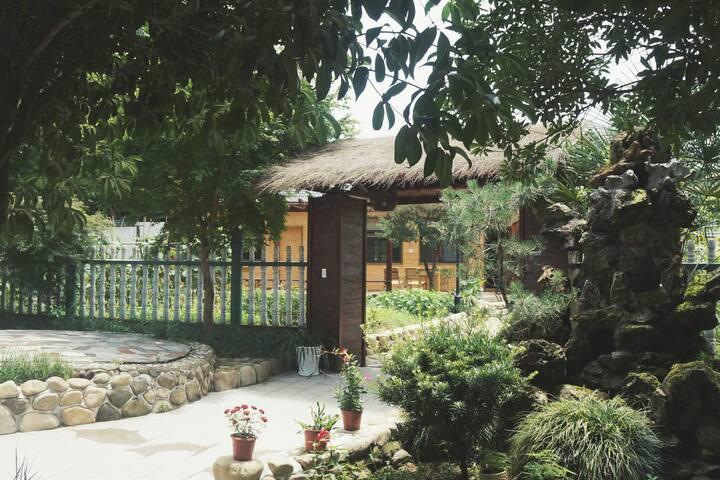 [独享庭院 有机菜地 独栋木屋] 莫干简舍民宿整套