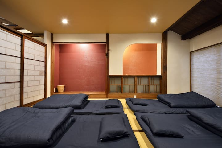 Arrangement example of Futon. For 4 person.