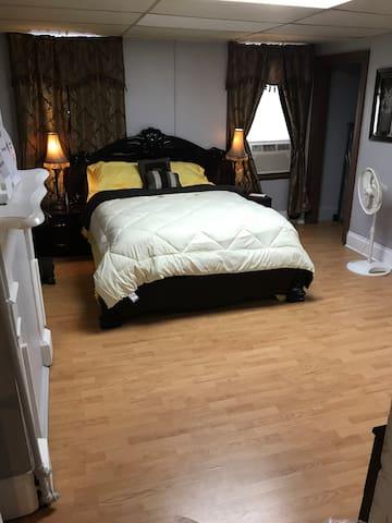 This room is hug and spacious
