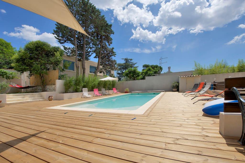 Villa piscine pr montpellier 5 pers maisons louer for Piscine castelnau le lez