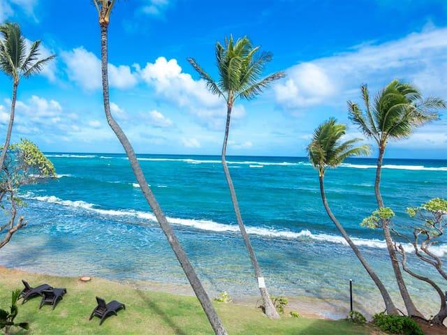 Pacific+Pool+Palms! Luxe w/Chic Kitchen, Lanai, Den, WiFi–Kauai Kailani K303