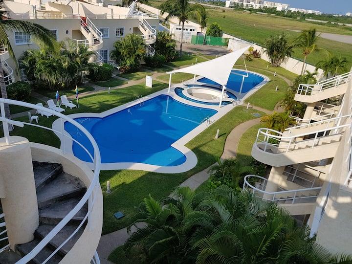 Acapulco diamante departamento con playa ecológico