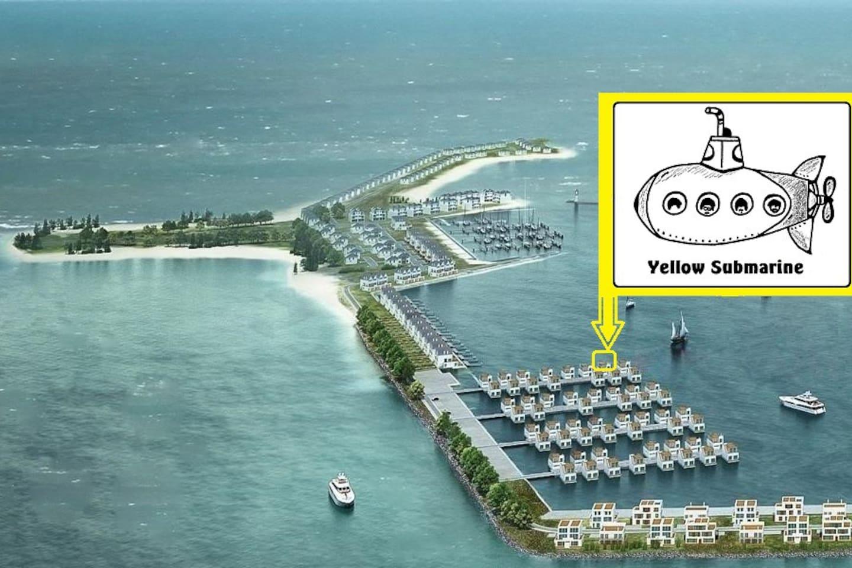 """""""Yellow submarine"""" in vorderster Reihe mit freiem, unverbauten Blick"""