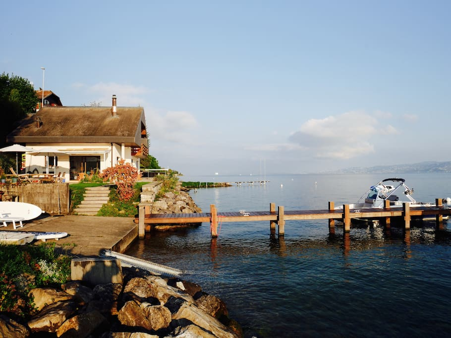 Private water-front home on Lake Geneva.