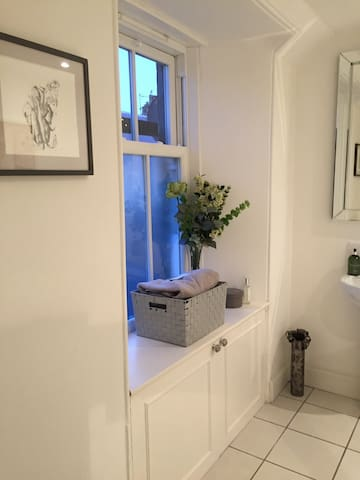 Ensuite - private shower, toilet and wash hand basin