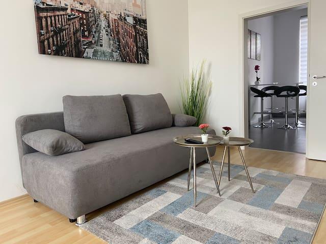 Modernes Apartment zum Wohlfühlen mit Neckarblick