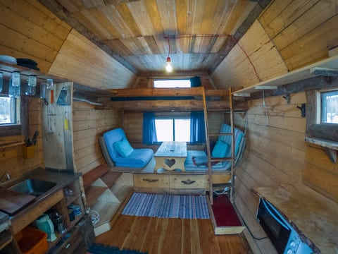 Tiny House at Off-Grid Homestead