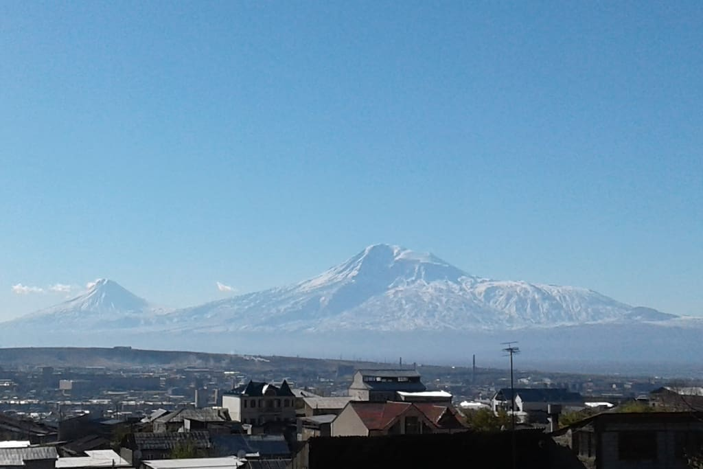 Mount Ararat From the window of my house.