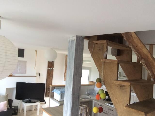 Maisonnette de village sur 3 niveaux
