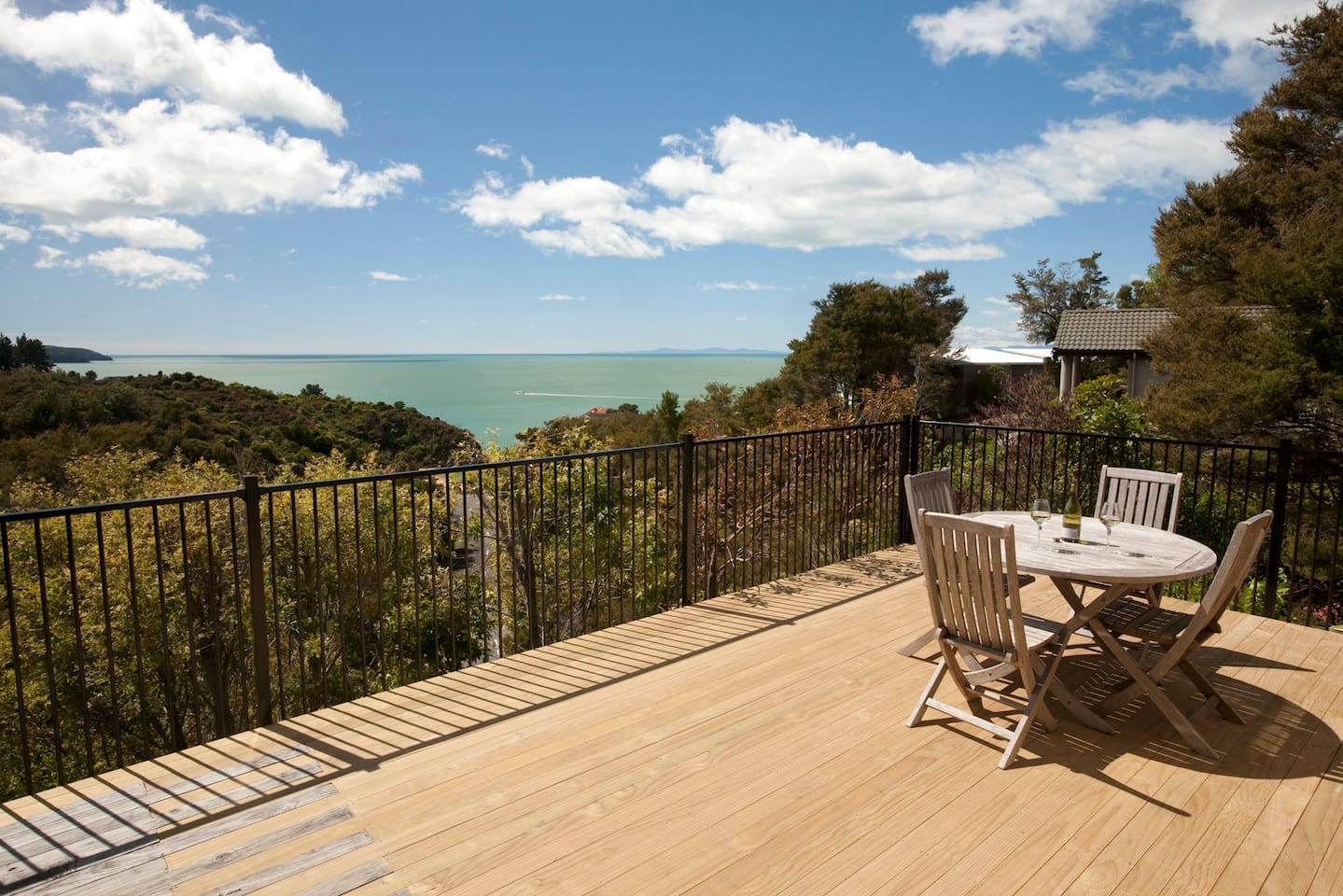 Seaviews and deck area.