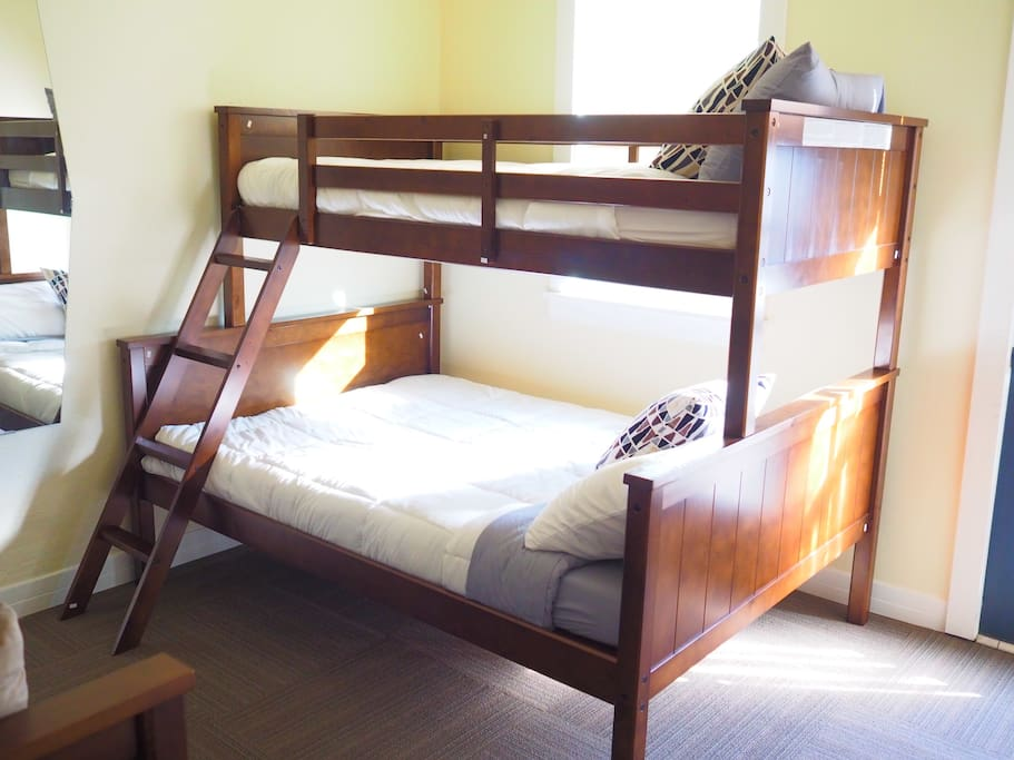 Guests get ONE assigned bed, not the entire bunkbed. :)