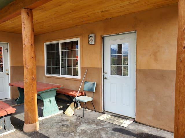Front porch and front door.