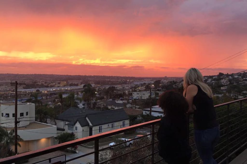The sunsets are beyond amazing from this home, every evening, year round.