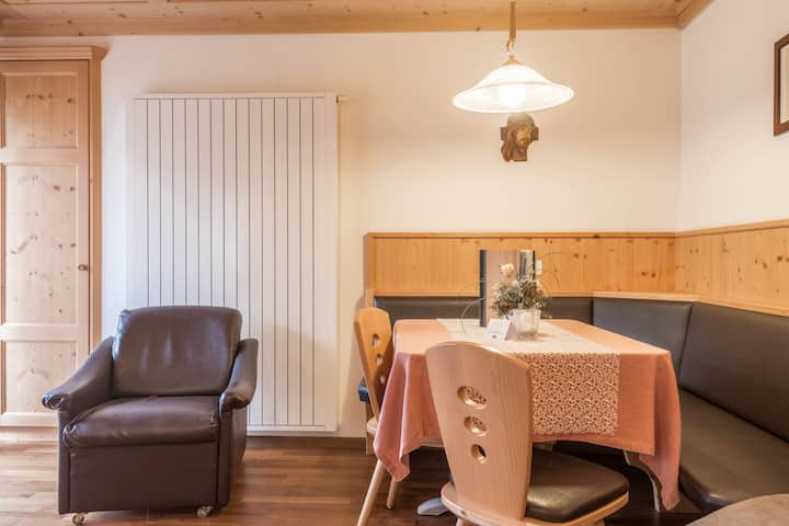 """Charming Apartment """"Ferienwohnung 5"""" near Seiser Alm with Mountain View, Wi-Fi, Balcony, Terrace, Jacuzzi, Garden & Sauna; Parking Available, Pets Allowed"""