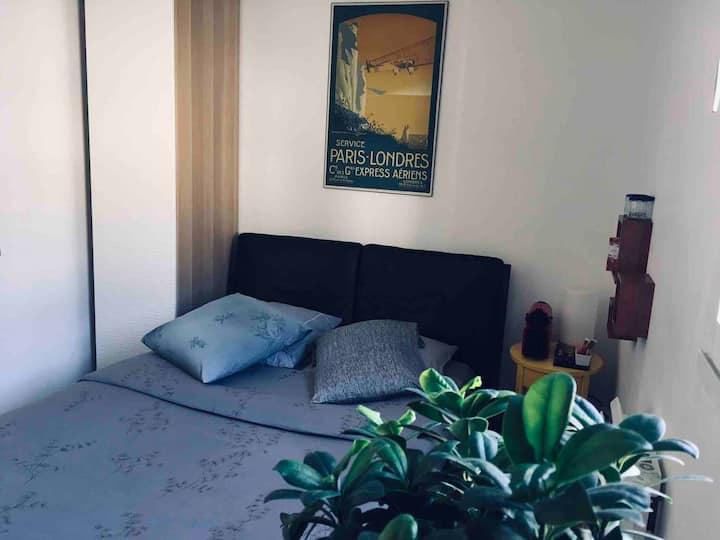 Chambre Cosy Zen Centre avec PARKING PRIVÉ