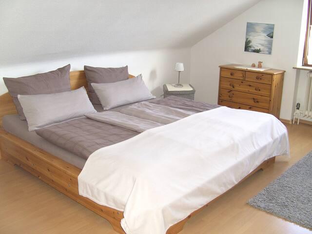 Helles Doppelzimmer mit Bad - Hartheim am Rhein - House